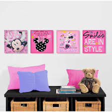 ... Minnie Mouse Disney Canvas Wall Art Pack Canvas Walmart Square Multi  Panels Hanging Mounted Pictures Images ...