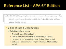 How To Cite A Thesis Apa 6th Edition Essay Paper Writing Service