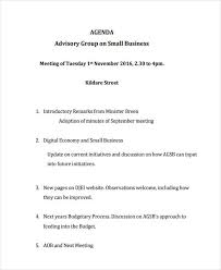 Business Agenda Free 10 Business Agenda Examples Samples In Pdf Examples