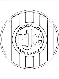 Kleurplaat Smurfen Voetbal Kleurplaat Met Roda Jc Kerkrade Embleem
