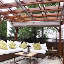retractable canopy pergola shadevoila retractable canopy white sofa elegant and pattern pillows stylish design item create