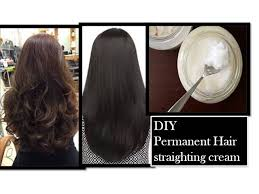 permanent hair straightening at home