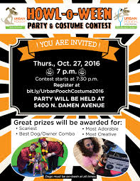 Halloween Party Flyer 2016 Urban Pooch Training Fitness
