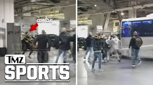 Insane Alternate Angle of Conor McGregor Bus Attack   TMZ Sports ...