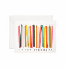 Birthday Candles Greeting Card By Rifle Paper Co Made In Usa