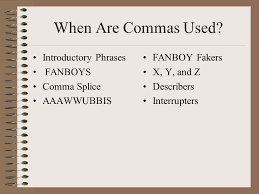 when is a comma used become a comma superhero ppt download