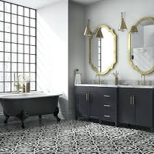 black and white tile floor. Surprising Bathroom Tiles Black And White Cement Tile Floors Wall Floor A