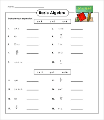 math equations worksheets