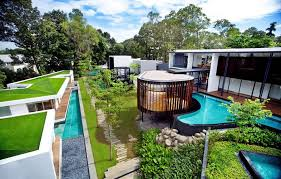 view in gallery luxury layered house and gardens with screened circular pavilion 1 thumb 630x401 28023 luxury house with