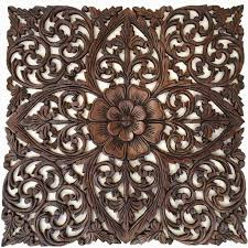 wonderful design ideas wood medallion wall decor art extraordinary wooden amazing carved brown