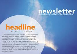 Christian Pamphlet Designs Free Printable Newsletter Templates Examples Lucidpress