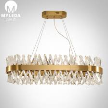 modern lobby crystal glass led pendant light hotel chandelier