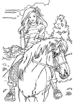 Раскраски для девочек с лошадьми распечатать