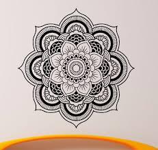 d360 mandala wall decal vinyl sticker indian om lotus flower yoga home decor wall art mural on mandala wall art with d360 mandala wall decal vinyl sticker indian om lotus flower yoga