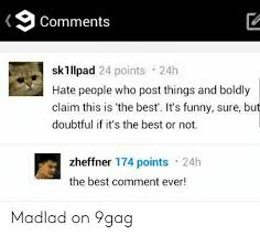 Comments Sklllpad 24 Points 24h Hate People Who Post Things and ...