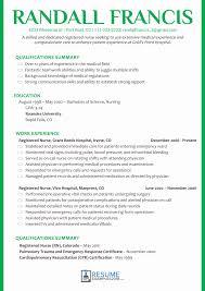 Registered Nursing Resume Registered Nursesume Examples Sample Format Download Pdf