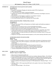 Magento Developer Resume Sample Developer Front End Resume Samples Velvet Jobs 1