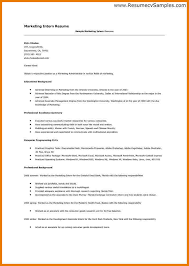 Account Coordinator Resume samples   VisualCV resume samples database Resume Examples Marketing Internship Resume Samples For Hr Internship Wth  Professional Experience And Education History