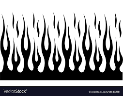 Flame Pattern New Classic Tribal Hotrod Muscle Car Flame Pattern Vector Image