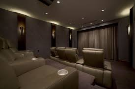 Theatre Rooms In Homes Small Theater At Home With Cozy Seating Idea Techethecom