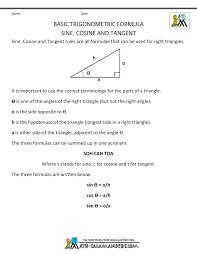 Geometry Formula Chart Geometry Formulas Triangles