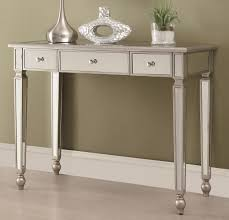 mirror console table. Classic Console Table With Silver And Mirrored Surfaces Mirror