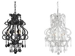 9062 valentina chandelier small black and 9063 valentina chandelier small white