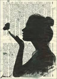 print art sketch ink drawing on recycled book pages collage painting ilration by rcolo print art for 3 5