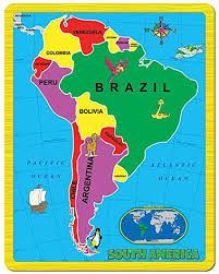 Continent Puzzle South America 15 Piece