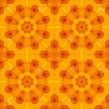 Seamless Texture With An Orange Floral Pattern Optimistic For