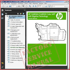 hp color laserjet cm 8050 8060 service and repair manual hp color laserjet cm 8050 8060 service manual