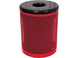32 gallon trash can perforated