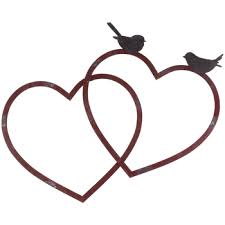 red metal heart wall decor with brown birds on red metal heart wall art with red metal heart wall decor with brown birds rustic master