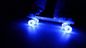 Light Up Longboard Wheels Introducing Sunset Skateboards With Flare Led Wheels The