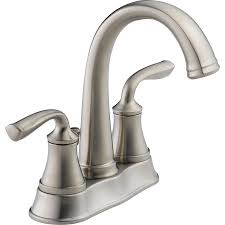 Lowes Delta Kitchen Faucets Shop Delta Lorain Stainless 2 Handle 4 In Centerset Watersense