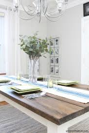 love that blue and cream table runner perfect for a farmhouse table this is
