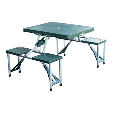 homcom folding camping picnic table with stools co uk garden outdoors