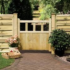 grange solid infill wooden path gate