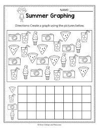 Summer Graphing Math Worksheets And Activities For Time