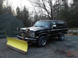 chevy blazer...k5 plow truck with 84 gmc parts truck