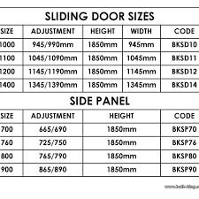 sliding glass door sizes standard