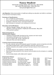 Resume Example Doc Examples Of Resumes