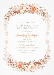 fl 30th birthday invitations elegant fall flowers invitation templates