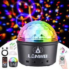 Strobe Light Speaker Donner Party Light Disco Ball Light Speaker Led Strobe Lights Sound Activated Dj Remote Control Wireless Phone Connection
