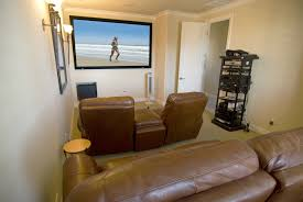 Leather Material Small Media Rooms Shocking Interior Design Premium Best  Living This Comfortable Watching Movie