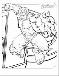 avengers hulk coloring page