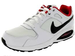 nike running shoes red and white. affordable nike men\u0027s air max coliseum racer running shoe white/black/university red 555423_102 shoes and white