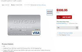 Imagine you have seven visa gift cards with funds ranging from $1.89 to $17.54. Staples Now Selling 300 Visa Gift Cards Online With 8 95 In Fees Doctor Of Credit
