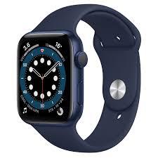 Apple Watch Series 6 GPS, 44mm Blue Aluminum Case with Deep Navy Sport Band  - Regular - Apple (MY)