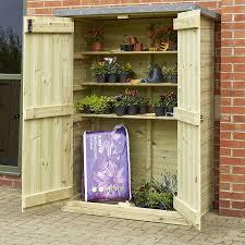 outdoor wooden lockable storage cupboard